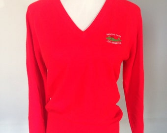 Really Red Los Angeles Vneck Sweater