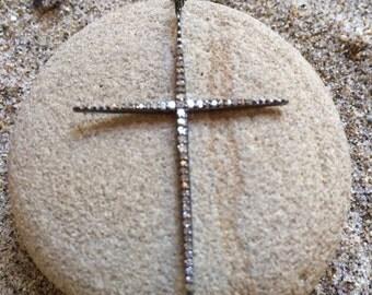 Pave Diamond Cross Pendant
