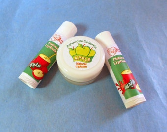 Natural Handmade Lip Balm - Apple