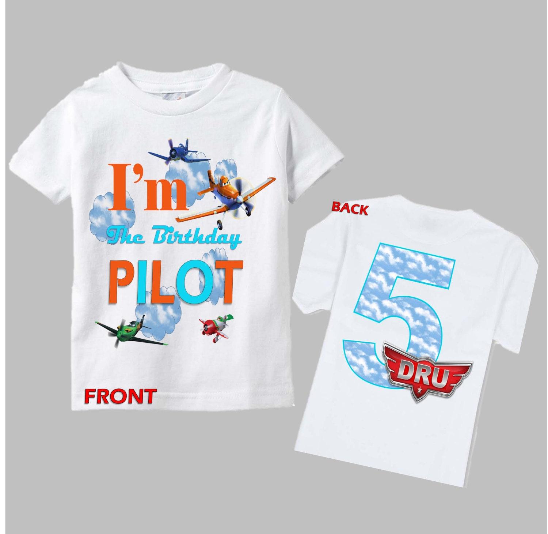 Planes Birthday Shirt Disney Planes Shirt Front And Back
