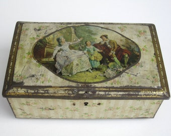 Antique Tin Box - Jewelry Box