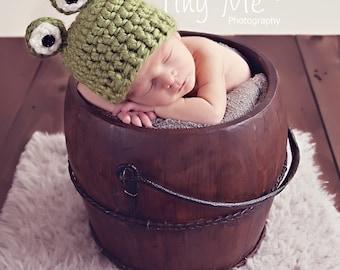 Crochet Baby Hat Pattern Frog PDF  #16