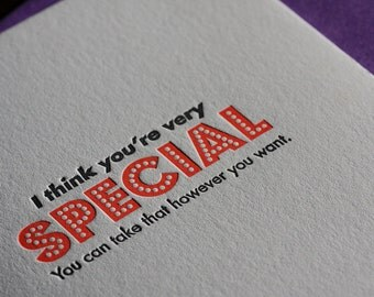 Special, Letterpress card (Single)