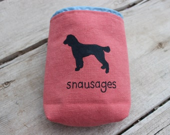 Personalized Dog Treat Training Pouch Bag with Carabiner, Custom Made to Order, Puppy Treat Training Bag, Dog Walker Gift, Dog Trainer