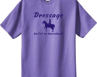 Dressage Ballet on Horseback Horse and Ride Violet T-Shirt by CHA