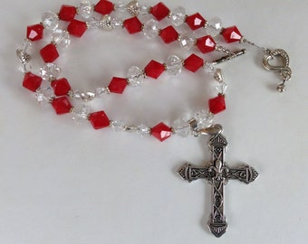 Crystal Necklace with Cross