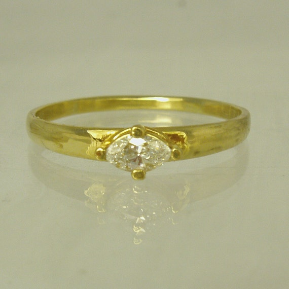 Diamond Engagement 14 Karat gold ring engagement ring