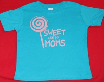 Sweet Like My Moms - Toddler Tee - Turquoise