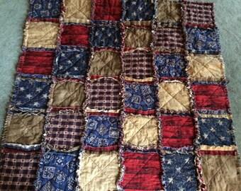 Western baby rag quilt