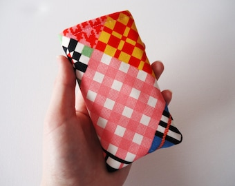 iPhone 5 and 5S sleeve with bright colored block print