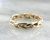 Braided Gold Band, Lovely Open Wire Work 1WT904-P