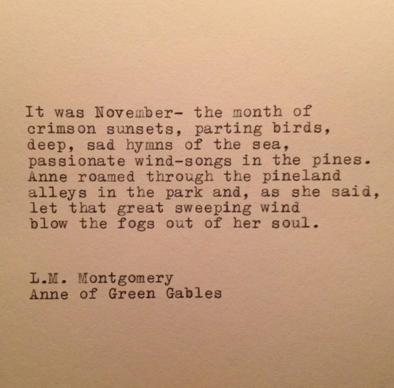 Image result for anne of green gables fall quote