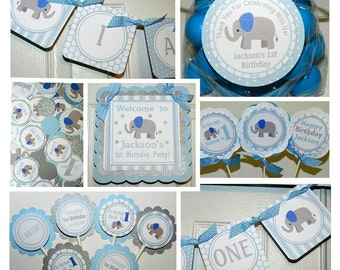 Little Peanut Blue Elephant Birthday Package