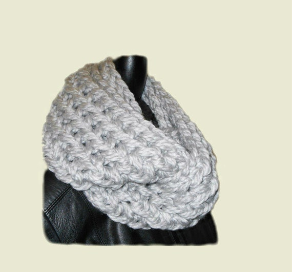 Chunky Infinity Scarf Cowl Womans Fashion by 2SistersHandmade