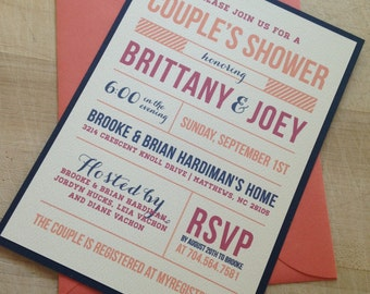 Couple's Wedding Shower Invitation // Purchase this Deposit Listing to Get Started