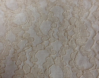 Mocha Bridal Lace Lightly Corded for bridal, craft or apparel discounted price