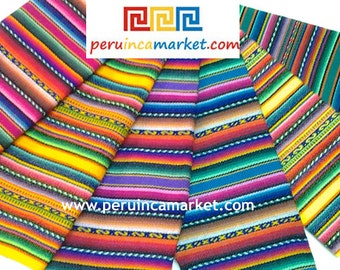 MADE IN PERU 6 Peruvian Blanket Manta Inca Tribal fabric to make your bags, purses, bracelets with this Inca cloth