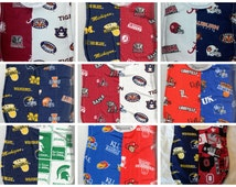Handmade House Divided Baby Bibs - made with licensed NCAA/College fabric