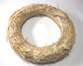 1 straw wreath, 18 cm, 3 cm thick  (298)