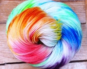 RAINBOW LOVE - Superwash Merino Yarn in Sock/Fingering or Dk/Worsted (per 100g)