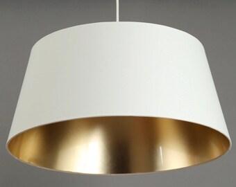 Ceiling Lamp white/gold  Metropol Diameter 50 cm Heigth 23cm