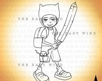 Digital Stamp- Superhero -300dpi jpeg files - 2014_0002