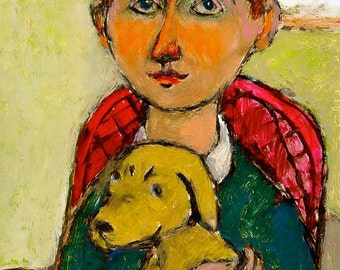 BOY WITH A PUPPY limited edition print