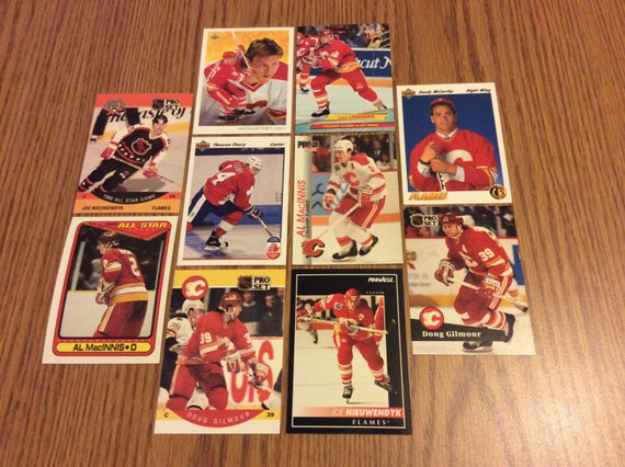 25 vintage calgary flames cards