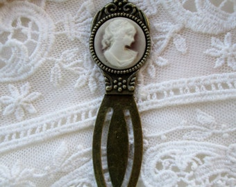 Bookmark, Book Lover's Cameo Inspired Gift,Practical Indulgence,Literary,Library,Mothers Day,ValentineBirthday,gift giving ready,Jane Austin