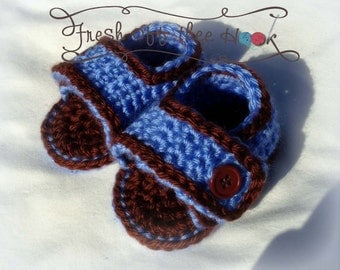 Crochet baby summer sandals - Newborn-12mo - Custom made to order