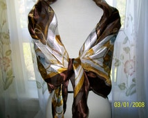 women's scarf vintage- multi coloured scarf- polyester scarf- 1960's accessories- vintage wrap- vintage Italian scarf- retro 60s scarf- 60s