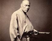 Vintage samurai art photography, Japanese Samurai FINE ART PRINT, japan vintage old photographs, samurai warriors art prints, wall posters
