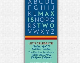 ABC BIRTHDAY PARTY Invite