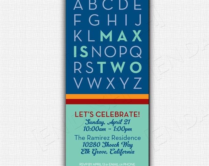 ABC BIRTHDAY PARTY Invite