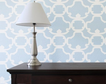 Hanover Damask Wall Stencil - Allover Stencil for Painting
