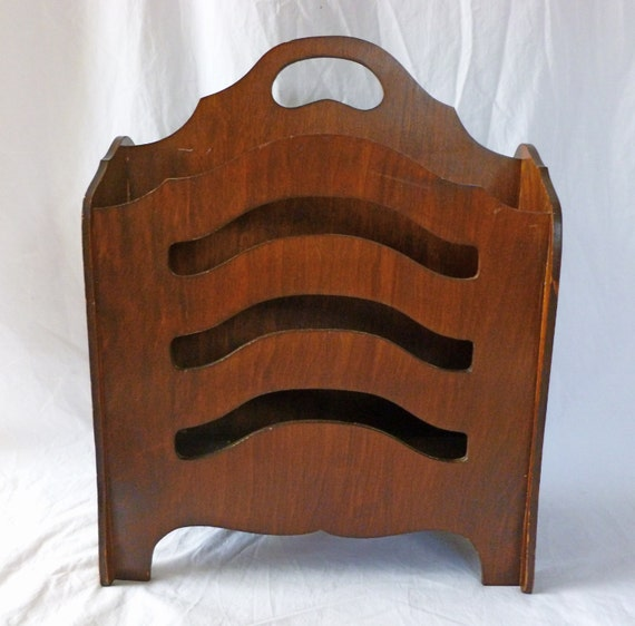 Antique Wooden Racks ~ Vintage antique wooden s magazine rack