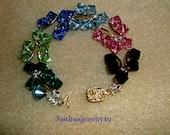 Swarovski Butterfly Bracelet in Rainbow