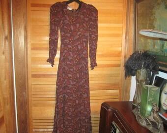 1940s Vtg. Steampunk/Hipster Dress Very Petite