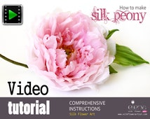 Video tutorial on how to make silk peony flower using japanese flower making tools