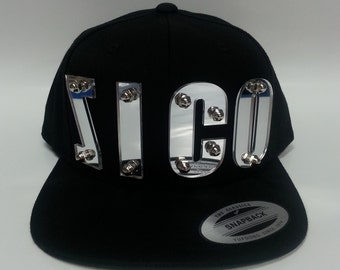 ZICO custom 3d silver mirrored acrylic snapback cap hat bolted