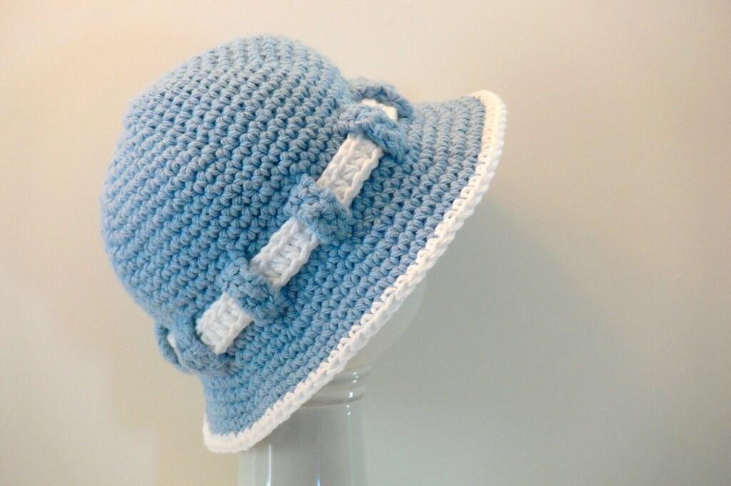 Crochet Pattern Baby Hat Sun Hat Beach Hat Summer Hat