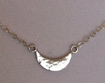 Sterling Silver Crescent Moon Necklace - Valentine