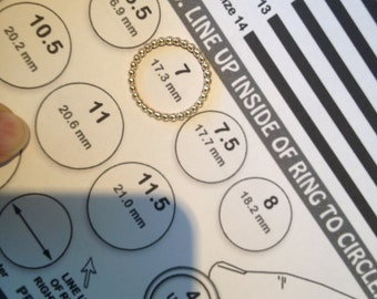 Print Your Own Ring Sizing Chart - International Conversion