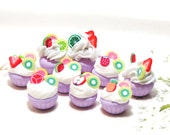 Miniature Sweet - Cup Cake Fruits Topping- 10pcs For Deco Charms Dolls House # 4