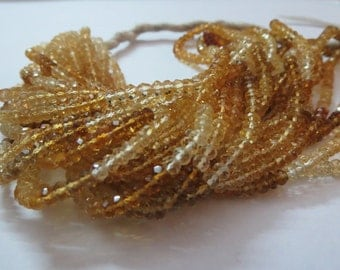 """16""""Natural Ctirine Multy Shaded Rondelle Beads FACETED 4x4mm 4mm citrine beads faceted multy color dark to light citren citrine aaa quality"""