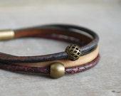 "RESERVED Indigo Berry """" womens braided leather bracelet  // boho // for her // custom made"