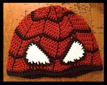 Crochet Pattern - Spider-Man - PDF File - Beanie - Hat