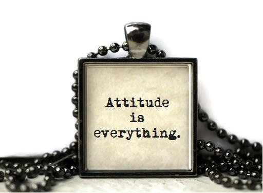 Attitude Is Everything Quote Resin Necklace Or By WordBaubles