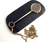 1890 Double Gold French Lorgnette with Chain