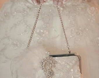 Custom Bridal Handbag / Ivory Wedding Purse